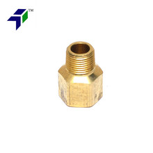 Zinc Plated Steel Tee 12-14 NPT Female Hydraulic Pipe Fitting