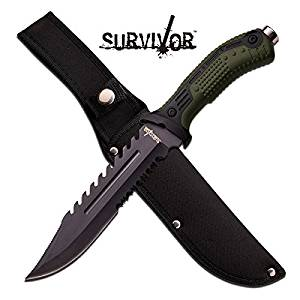 """HK-793GN 74f2f59mm6f SURVIVOR HK-793GN FIXED BLADE KNIFE yn3lk7f6j5 """"12.75"""""""""""" OVERALL djuiovbdsew d34rtyi FIXED BLADES """"12.75"""""""""""" OVERALL """"7.5"""""""""""" b6vvewrj2 3.2MM BLADE, STAINLE"""