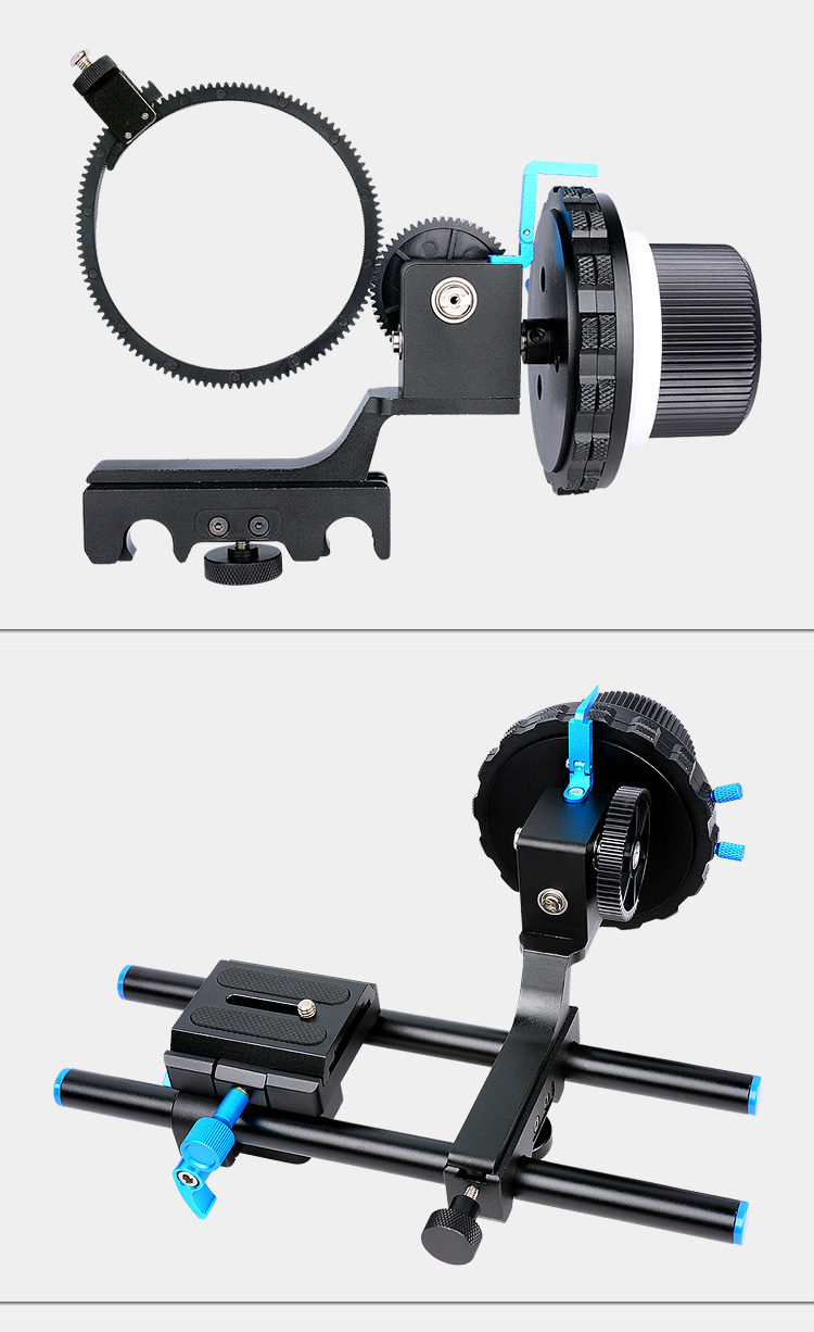 YELANGU F4 Aluminum Alloy and Plastic Follow Focus High-performance Camcorder Accessories For DLSR and Digital Camera