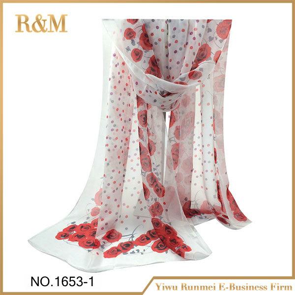 Mode nouvelle conception romatic rose pas cher soie mousseline de soie  écharpe b7b76f939e6
