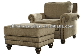 Single Sofa With Footrest Lounge Chair
