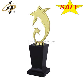 Wholesale zinc alloy metal gold star trophies with trophy parts