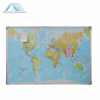 World Map Cork Board Wall Art Kitchen Notes Travel Holiday Gift