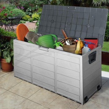 Outdoor Plastic Storage Cabinet Waterproof Garden Box