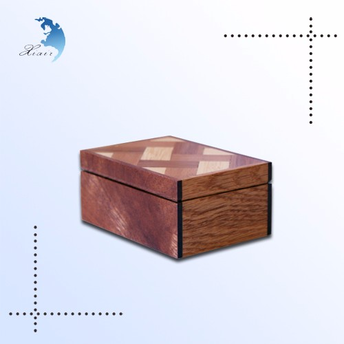 Wholesale Custom Small Christmas Jewelry Gift Wooden Packaging Jewellery Box With Logo