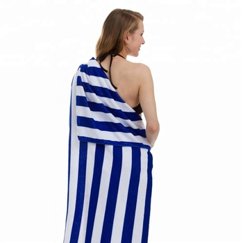 Outdoor 75 x 150 cm Oversize Sand Proof Quick Dry Bath Towel Microfiber Cabana Stripe Beach Towels