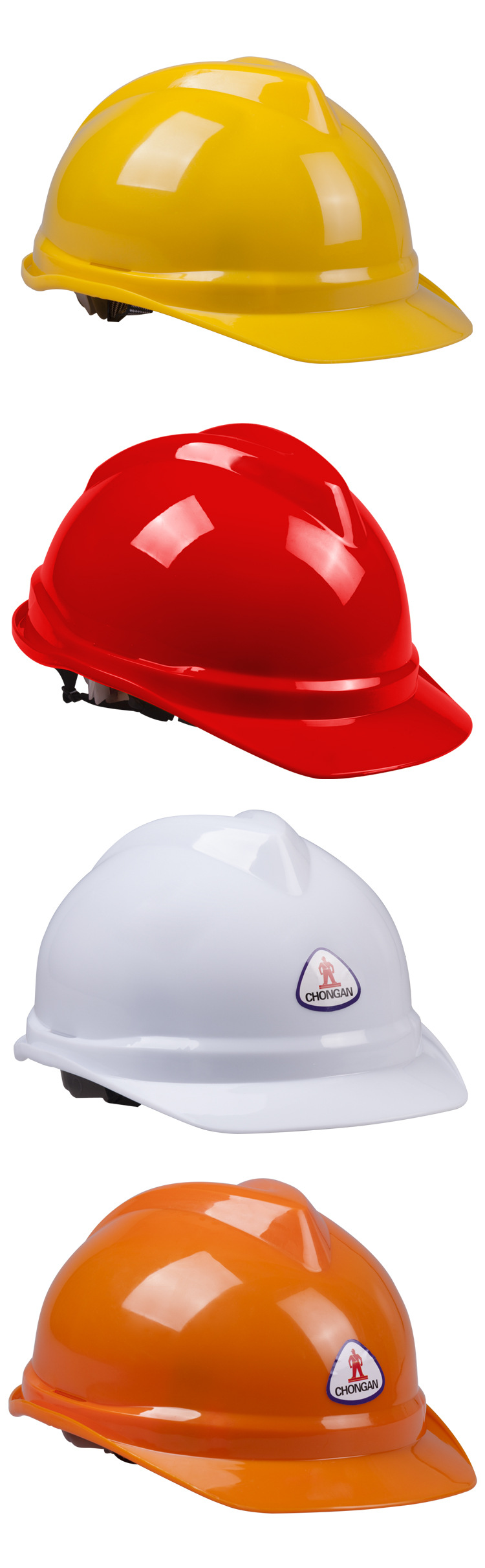 TZYA-88B Construction PE V-type Safety Helmet Personal Protective Equipment