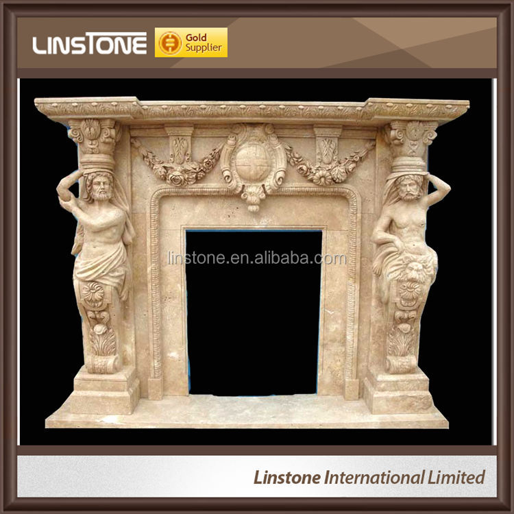 Customizable Wholesale White Yellow Grey Color Luxury Electric Wood Fireplace