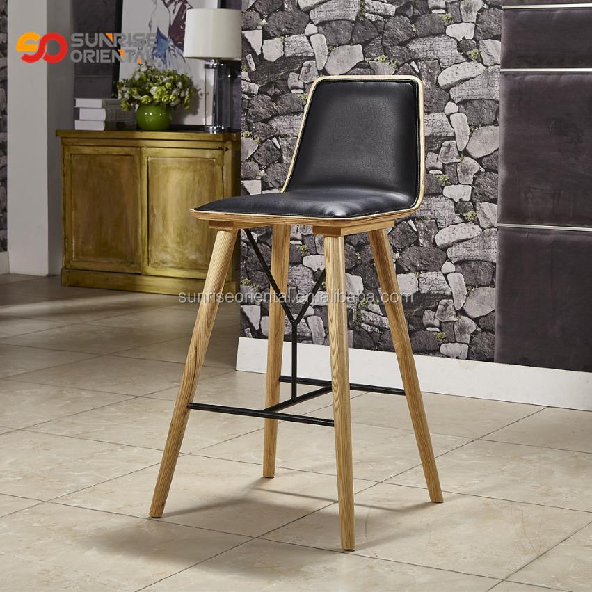 Outstanding High Grade Durable Leather Upholstered Wooden Bar Stools Wholesale Cheap Price Buy Wooden Bar Stools Cheap Commercial Bar Stools Bar Stools Inzonedesignstudio Interior Chair Design Inzonedesignstudiocom