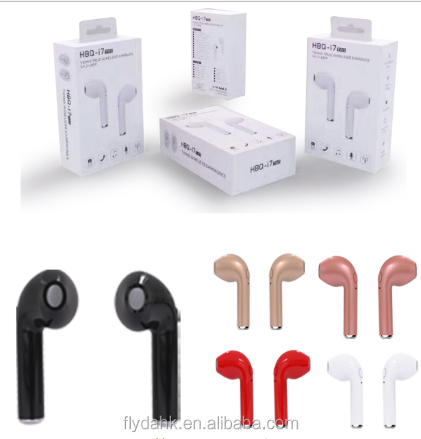 HBQ i7 TWS Twins Wireless Earbuds Mini Bluetooth V4.2 Stereo Headset earphone For IPhone 7 Plus Airpods Samsung S8 Plus