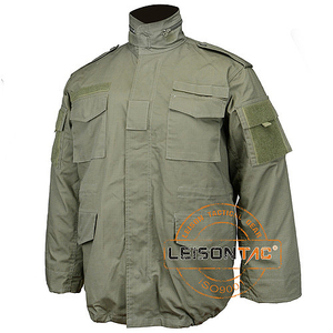 Military Jacket adopts soft 100% cotton clothing with nylon thread stitching