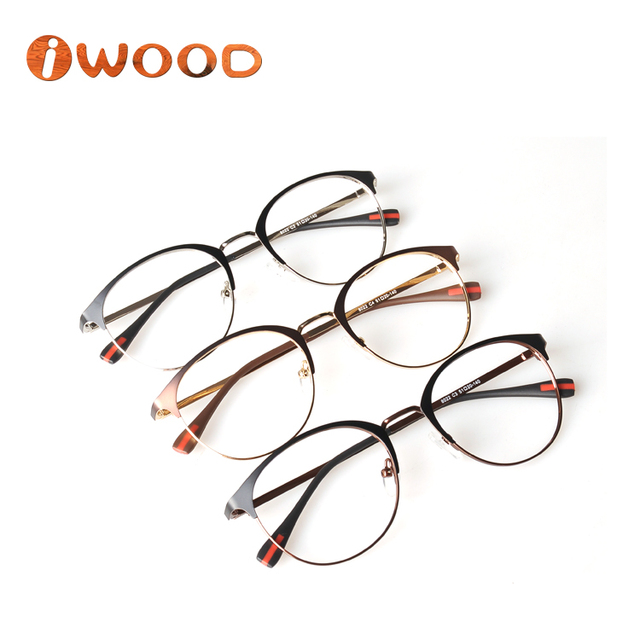 3b11e2baba Trendy metal optical frame classic design bicolored eyeglasses 2018