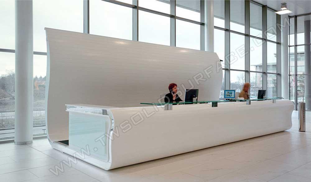 salon white modern reception desk cheap design