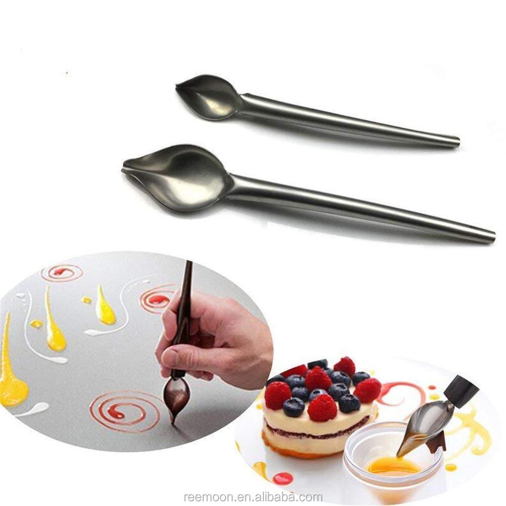 Stainless Chocolate Spoon Decorating Sauce Fondant Cream Pencil Filter S