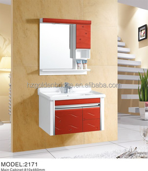High Gloss Wall Mounted Modern Bathroom Cabinet Furniture Sanitary Ware Amenities 2171