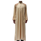 2019 new embroidered zipper robe arab abaya spot long sleeve thobe muslim clothing for men