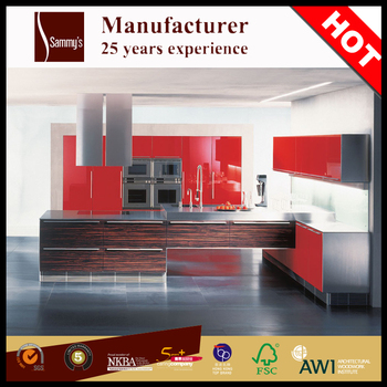 Ready Made Painted Red Lacquer Kitchen Cabinet Doors Penang - Buy ...