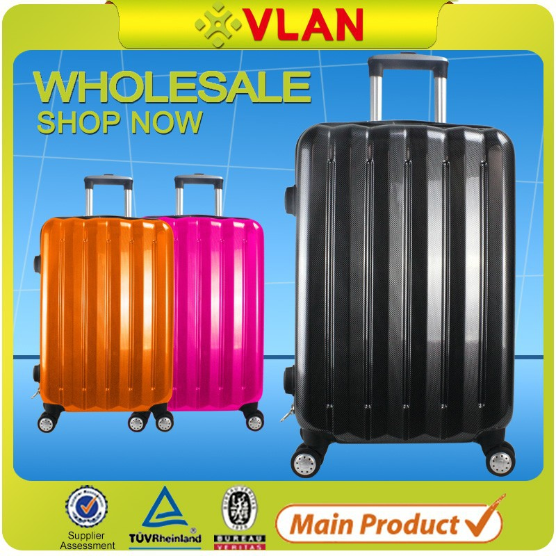 ABS+pc bright 4 Spinner Wheels Travel Suitcase Luggage Set