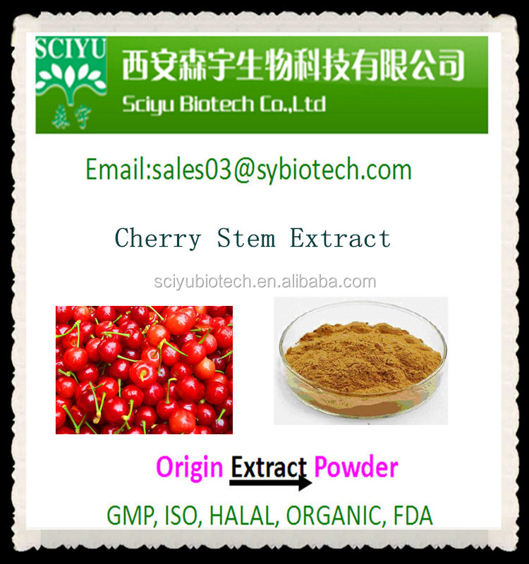 High Quality Natural Cherry Stem Extract 5:1 10:1 20:1