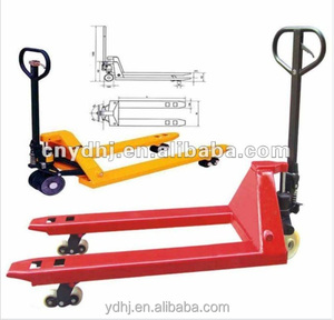Manual Hydraulic Hand Pallet Tray Cart for Industrial Warehouse