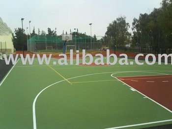 Tennis Court Surface Coating