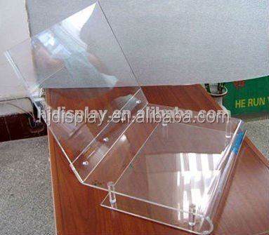 table top clear acrylic computer table stand