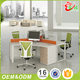 High quality custom melamine furniture workstation 120 degree office desk modern for 3 person