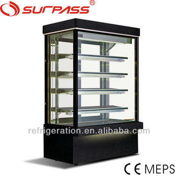 G760F Surpass Upright Black Marble Cake Display Showcase/5 layers cake display fridge