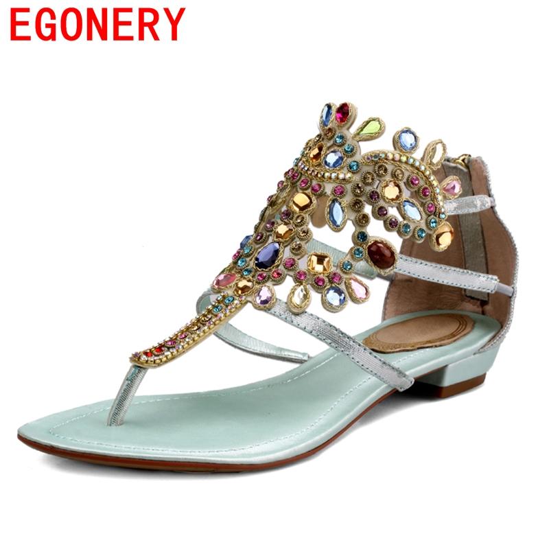 2016 Summer Flat Gladiator Beautiful Sandals Women Fashion