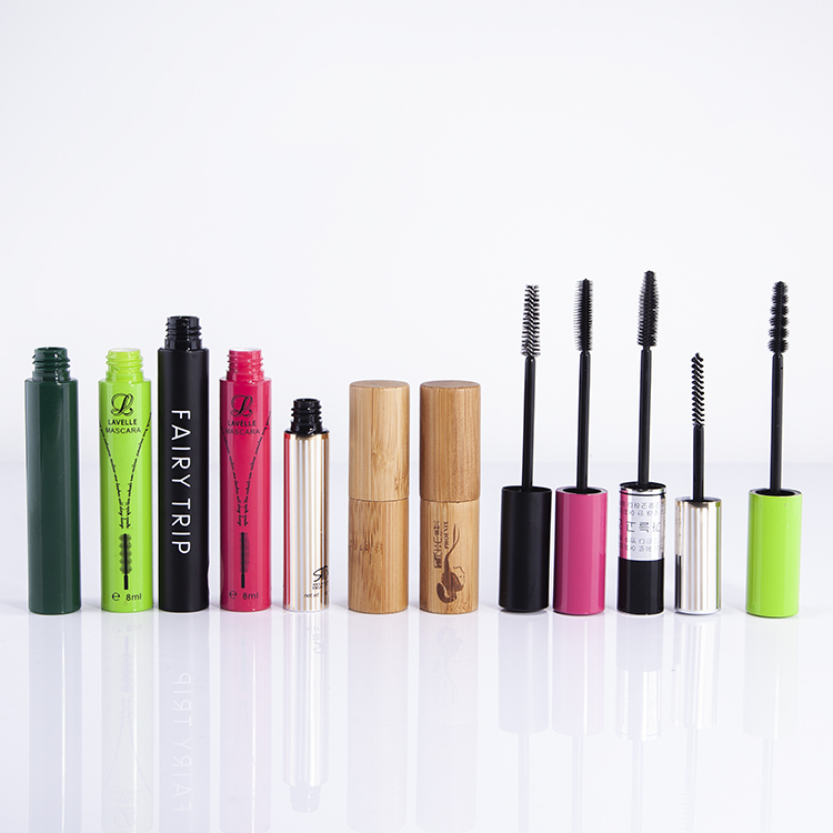 Eco friendly diferente pincel aplicador mascara tubo de bambu
