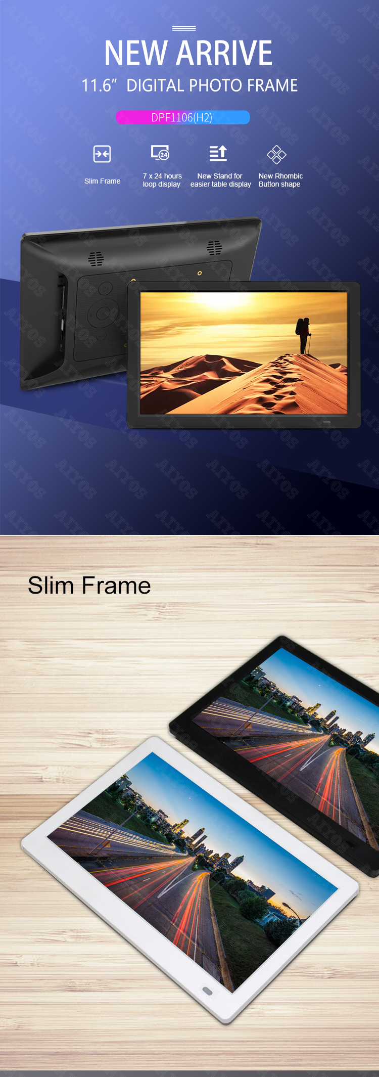 "2019 best digital photo frame to enjoy HD 1080 p video (optional: 22"" 24"" 27"" 32"" 50"" 55"" 65"")"