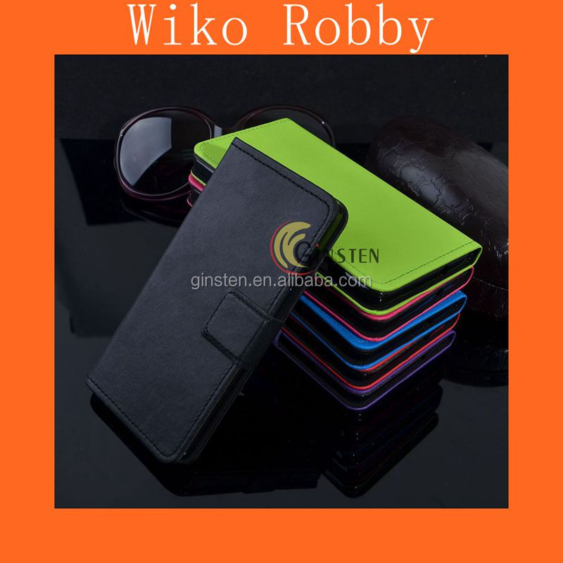 New Product Leather Case Wiko Robby Leather Cover