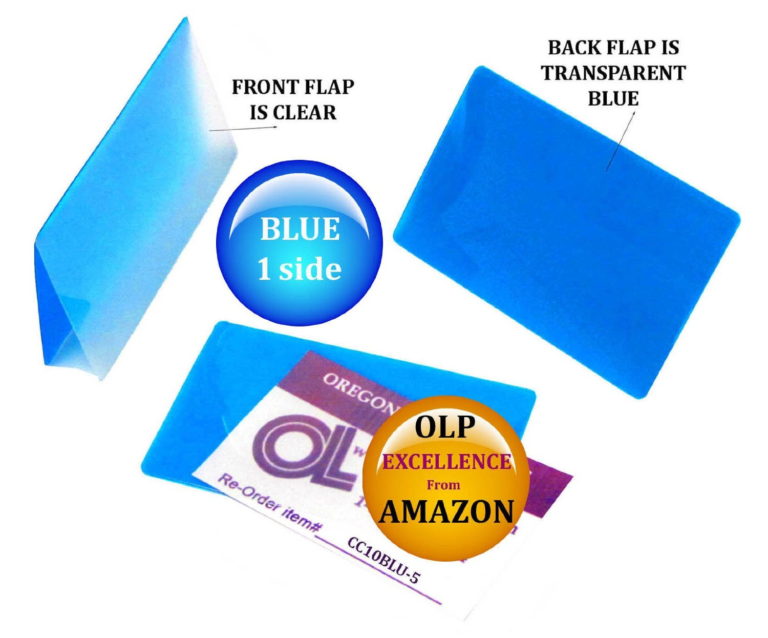 LAM-IT-ALL Hot Laminating Pouches Credit Card (pack of 500) 10 mil 2-1/8 x 3-3/8 Blue/Clear