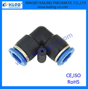 auto air conditioning fittings PUL series equal size union elbow pneumatic fitting with plastic material