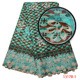 5 Yards Wholesale Green Guipure Design Embroidered Ankara Dress Lace African Wedding Lace Fabric