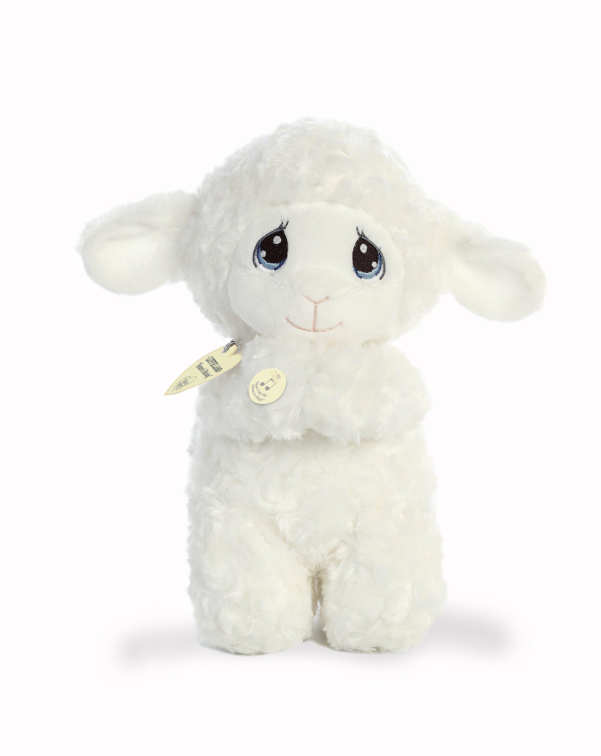 "Aurora World Precious Moments Musical Plush Toy Animal, Luffie Prayer Lamb, 10"""