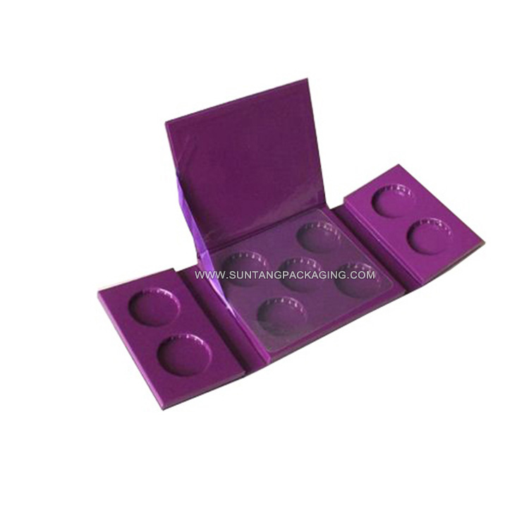 Cosmetic Paper Box Eyeshadow Palette Packaging Without Window And Mirror