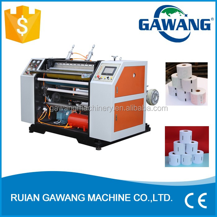 Thermal Fax/POS/Cash Register Paper /Taxi Paper Roll to Roll Slitting Machine