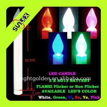 Battery Operated Led Candle Glow Stick