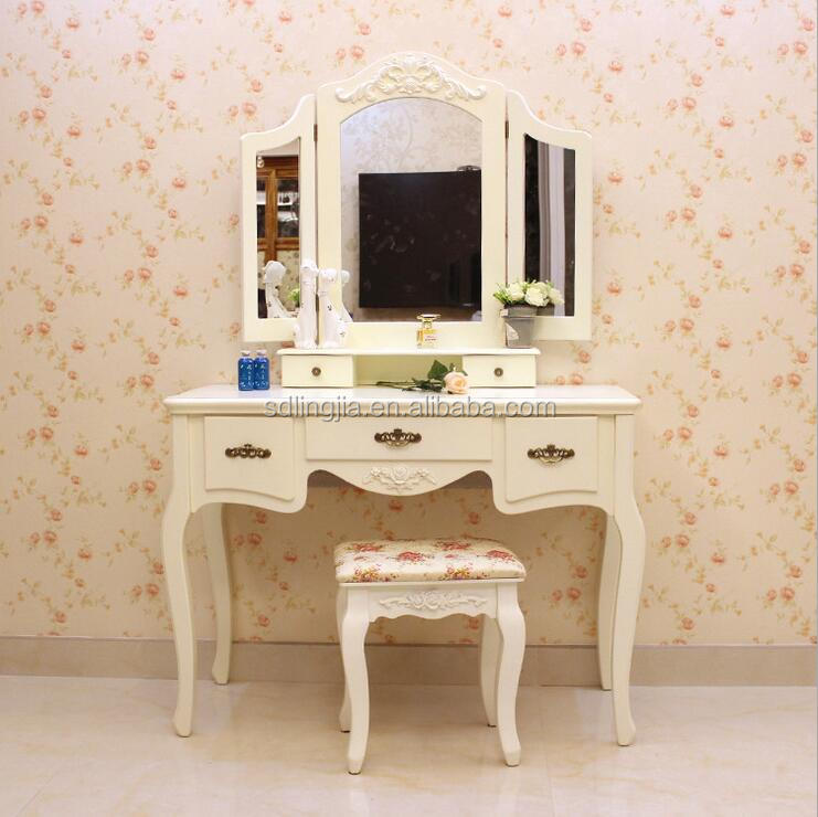 Consolas de espejo espejo de tocador de madera para ni as - Tocador madera nina ...