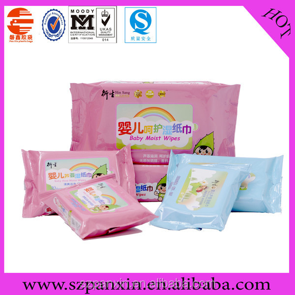 Top Quality Side Gusset Baby wet wipes plastic packing bag /Manufacturer from PX