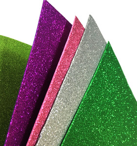 "Glitter 9""x12"" EVA foam Sheet Craft Goma EVA Foam Paper"