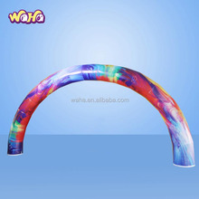 Advertising custom beautiful rainbow inflatable arch for event party decoration