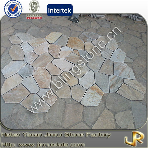 Decorative flagstone mats yellow slate