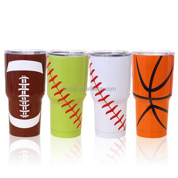 57002762f37 Double Walled Stainless Steel Travel Mug Customized Insulated Baseball  Softball 30oz Tumblers - Buy Customized Insulated Baseball Softball 30oz ...