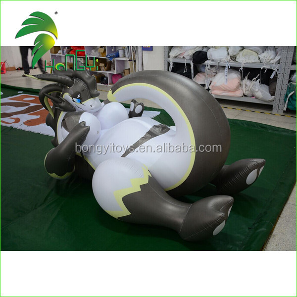 Hongyi Customized Inflatable Laying Dragon Inflatable Sexy Animal Toys Giant Inflatanle Bikini Dragon