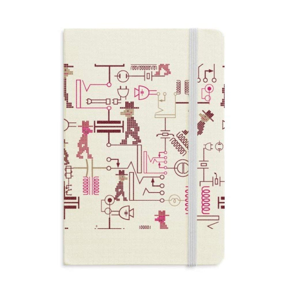 Circuit Diagram Socket Plug Pattern Classic Notebooks Fabric Hard Cover Office Work Gift