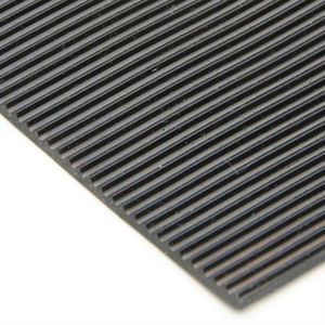 Easy clean grooved fine ribbed corrugated Anti-slip Rubber Sheet / Floor Mat for outdoor