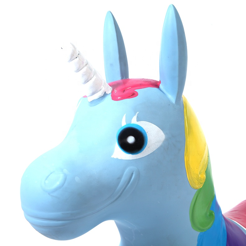 customized color rocking horse ride unicorn