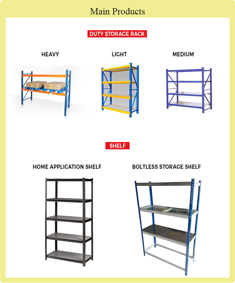 Customized Medium Duty Cold Room Metal Storage Rack and Metal Storage Shelf